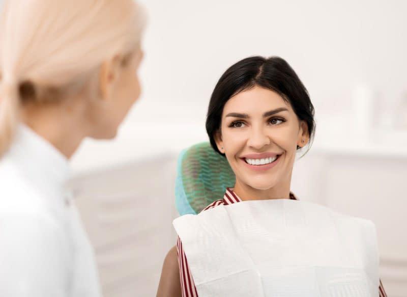patient undergoing dental consultation